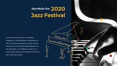 재즈 페스티벌 테마 PT 템플릿_03