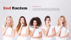 인종 차별 반대 심플한 파워포인트 템플릿 디자인_04