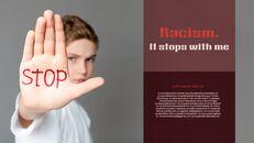 인종 차별 반대 심플한 파워포인트 템플릿 디자인_06