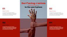 인종 차별 반대 심플한 파워포인트 템플릿 디자인_08