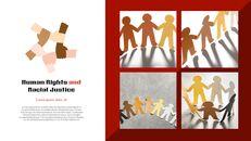 인종 차별 반대 심플한 파워포인트 템플릿 디자인_11