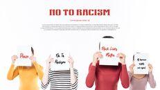인종 차별 반대 심플한 파워포인트 템플릿 디자인_14