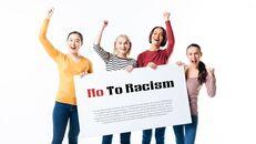 인종 차별 반대 심플한 파워포인트 템플릿 디자인_15