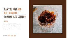 아이스 커피 인터랙티브 파워포인트 예제_10