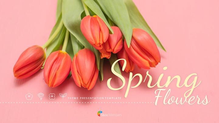 봄 꽃 구글슬라이드 템플릿_01
