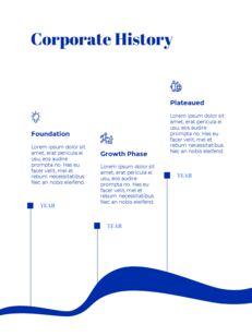 파란색 배경 개념 연례 보고서 베스트 PPT 템플릿_06