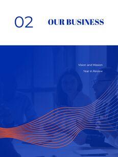 파란색 배경 개념 연례 보고서 베스트 PPT 템플릿_08