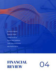 파란색 배경 개념 연례 보고서 베스트 PPT 템플릿_18