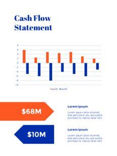 파란색 배경 개념 연례 보고서 베스트 PPT 템플릿_23