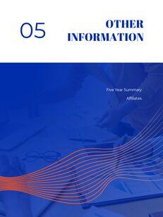 파란색 배경 개념 연례 보고서 베스트 PPT 템플릿_25