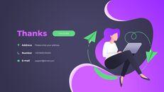 Progettazione animata del mazzo di passo di affari di concetto di tecnologia_13