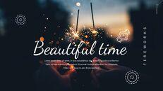불꽃 놀이 축제 편집이 쉬운 구글 슬라이드 템플릿_15