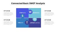 SWOT 그리드 분석 다이어그램 PowerPoint의 애니메이션 슬라이드_06