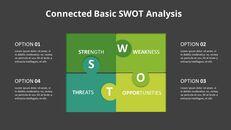 SWOT 그리드 분석 다이어그램 PowerPoint의 애니메이션 슬라이드_13