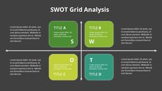 SWOT 그리드 분석 다이어그램 PowerPoint의 애니메이션 슬라이드_14