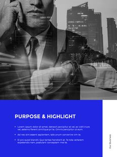 Blue Simple Layout 연례 보고서 비즈니스 사업 피피티_09