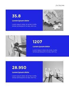 Blue Simple Layout 연례 보고서 비즈니스 사업 피피티_10
