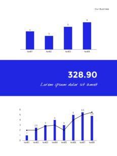 Blue Simple Layout 연례 보고서 비즈니스 사업 피피티_11