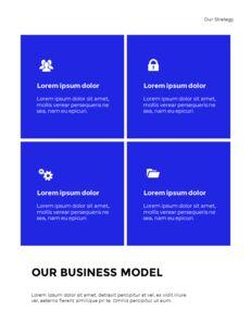Blue Simple Layout 연례 보고서 비즈니스 사업 피피티_12