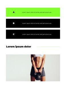 스포티 한 컨셉 레이아웃 디자인 템플릿 구글 슬라이드_13