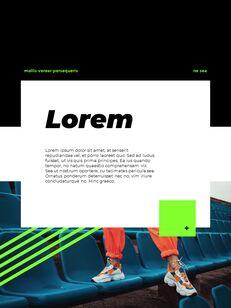 스포티 한 컨셉 레이아웃 디자인 템플릿 구글 슬라이드_19