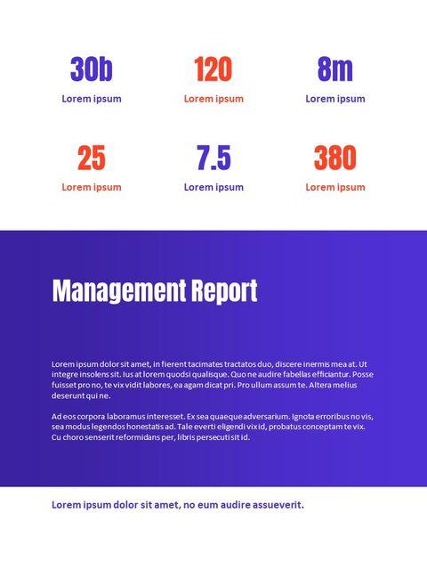 비즈니스 다목적 연례 보고서 제안 프레젠테이션 템플릿_13