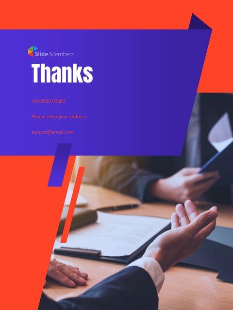 비즈니스 다목적 연례 보고서 제안 프레젠테이션 템플릿_28