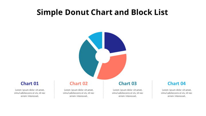 Divided Donut Chart with Bottom Text_01