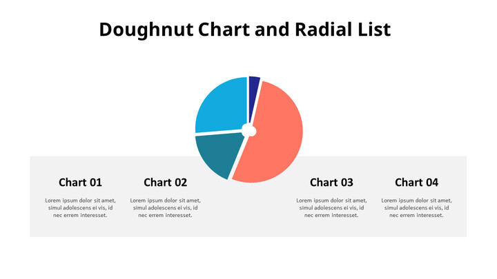 Divided Donut Chart with Bottom Text_02