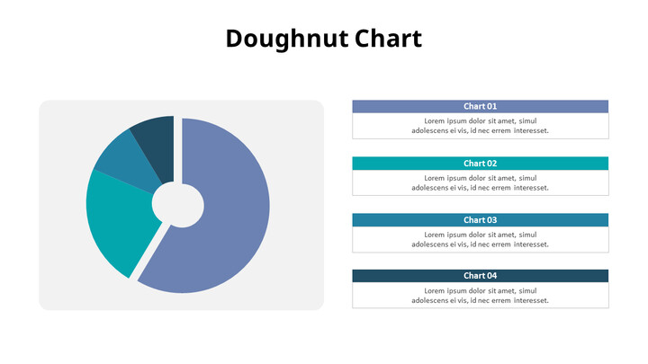 Divided Four Donut Chart with Right Text_02