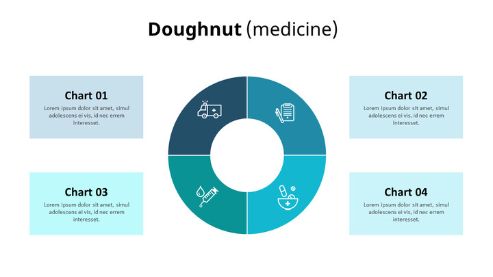 Four Division Donut Chart_01