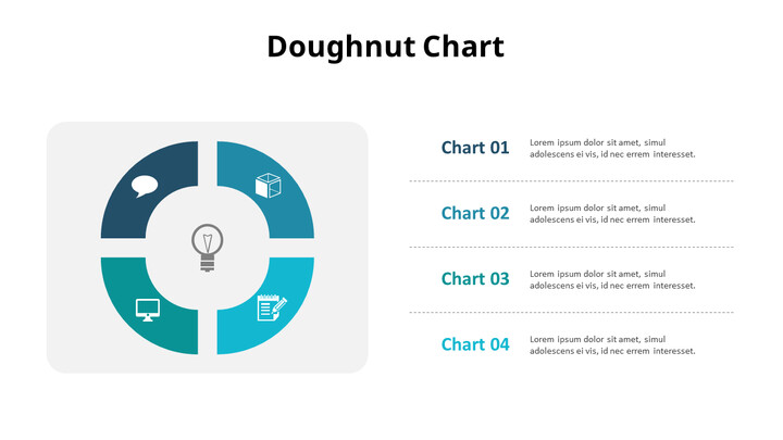 Four Division Donut Chart_02