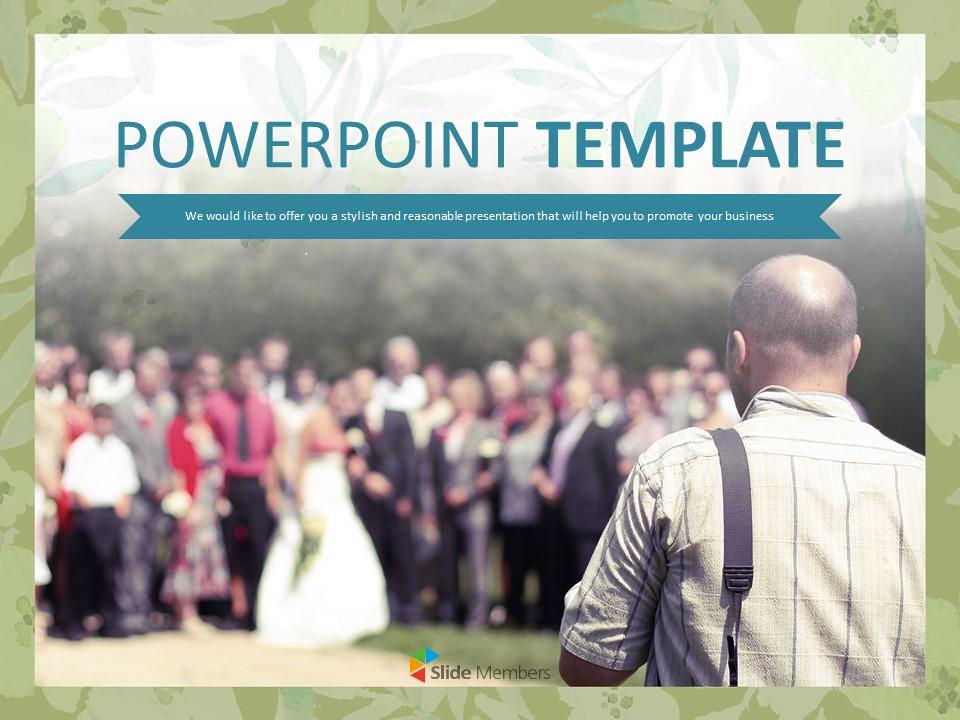 Wedding Photograper Free Ppt Sample Templates Slides