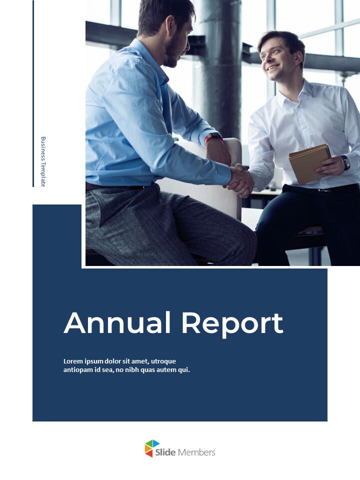 Blue Layout 연례 보고서 베스트 프레젠테이션 디자인_01