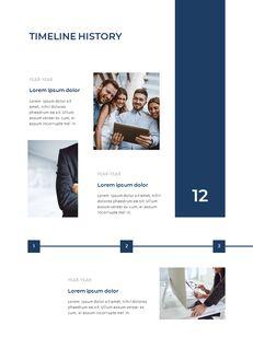 Blue Layout 연례 보고서 베스트 프레젠테이션 디자인_09