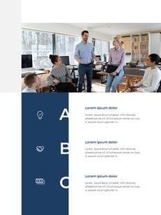 Blue Layout 연례 보고서 베스트 프레젠테이션 디자인_12