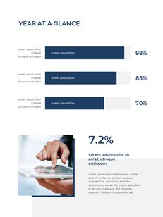 Blue Layout 연례 보고서 베스트 프레젠테이션 디자인_14