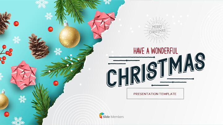 멋진 크리스마스 보내세요 모던한 PPT 템플릿_01