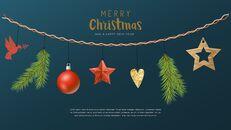멋진 크리스마스 보내세요 모던한 PPT 템플릿_09