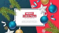멋진 크리스마스 보내세요 모던한 PPT 템플릿_10