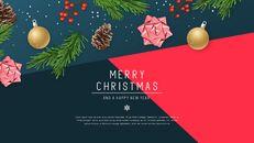 멋진 크리스마스 보내세요 모던한 PPT 템플릿_12