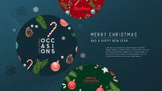 멋진 크리스마스 보내세요 모던한 PPT 템플릿_14
