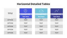 3 개의 수평 목록 테이블 세트_03