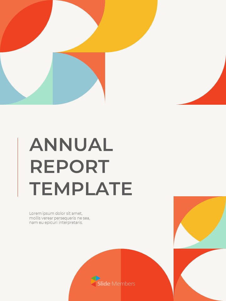Abstract Annual Report Template PPT Presentation Samples_01