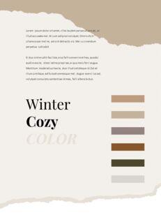 아늑한 겨울 분위기 세로형 레이아웃 편집이 쉬운 Google 슬라이드_06