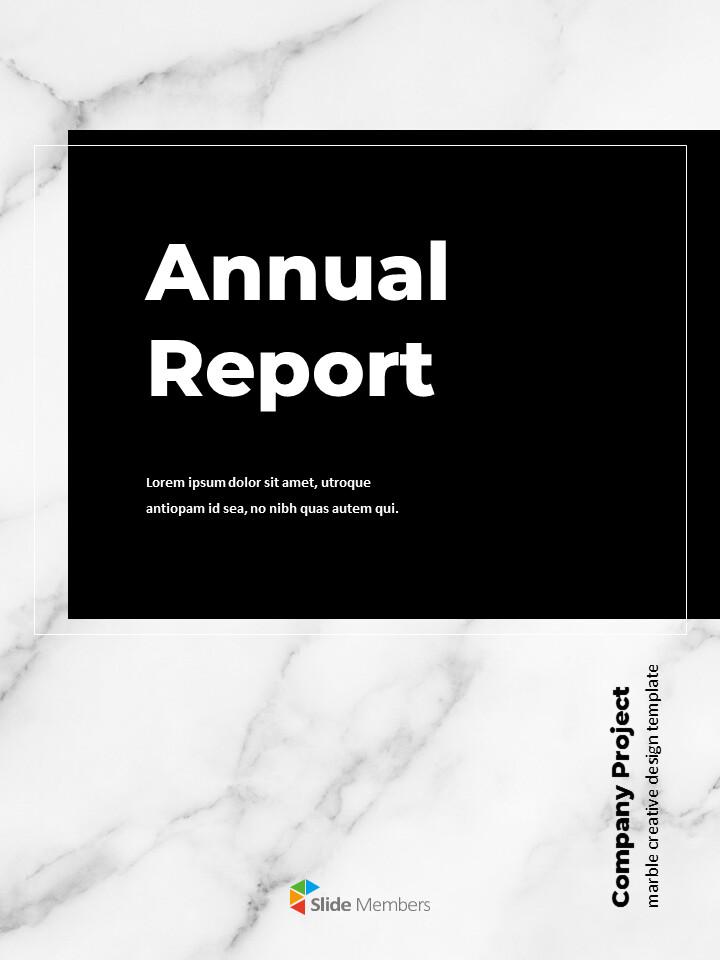 Marble Background Design Annual Report Google Presentation Templates_01