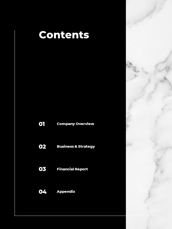 Marble Background Design Annual Report Google Presentation Templates_02