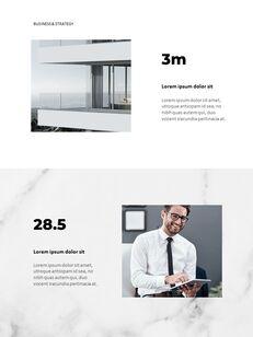 Marble Background Design Annual Report Google Presentation Templates_11