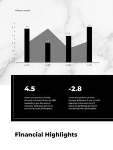 Marble Background Design Annual Report Google Presentation Templates_21
