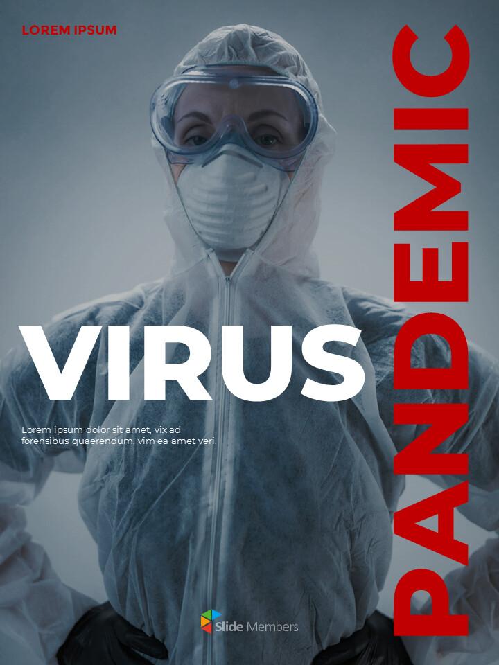 Virus Pandemic Poster Layout Template Google PowerPoint Presentation_01